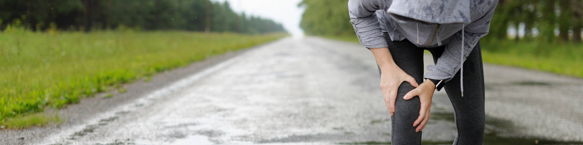 a runner stopped by unexpected knee pain